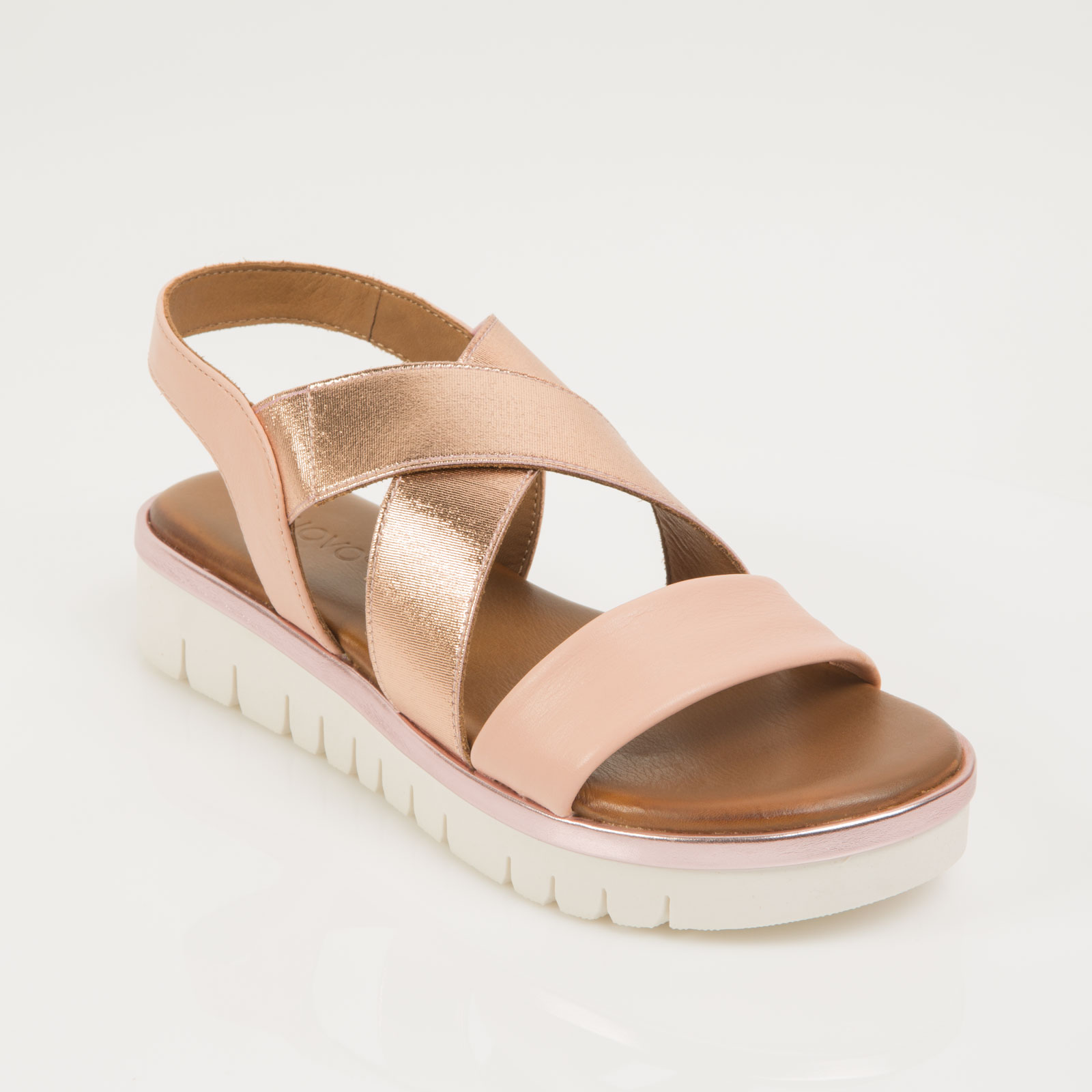 separation shoes da3b2 56d7e Inuovo bőr rose gold szandál