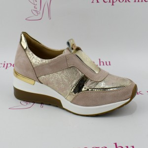 Claudio Dessi by Lux púder/rose gold cirkás emelt bőr slip on
