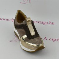 Claudio Dessi by Lux barna emelt bőr slip on