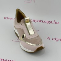 Claudio Dessi by Lux púder/rose gold emelt bőr slip on